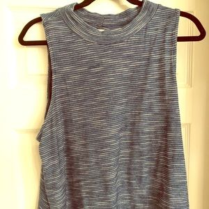 Blue Anthropologie Cotton Tank Top